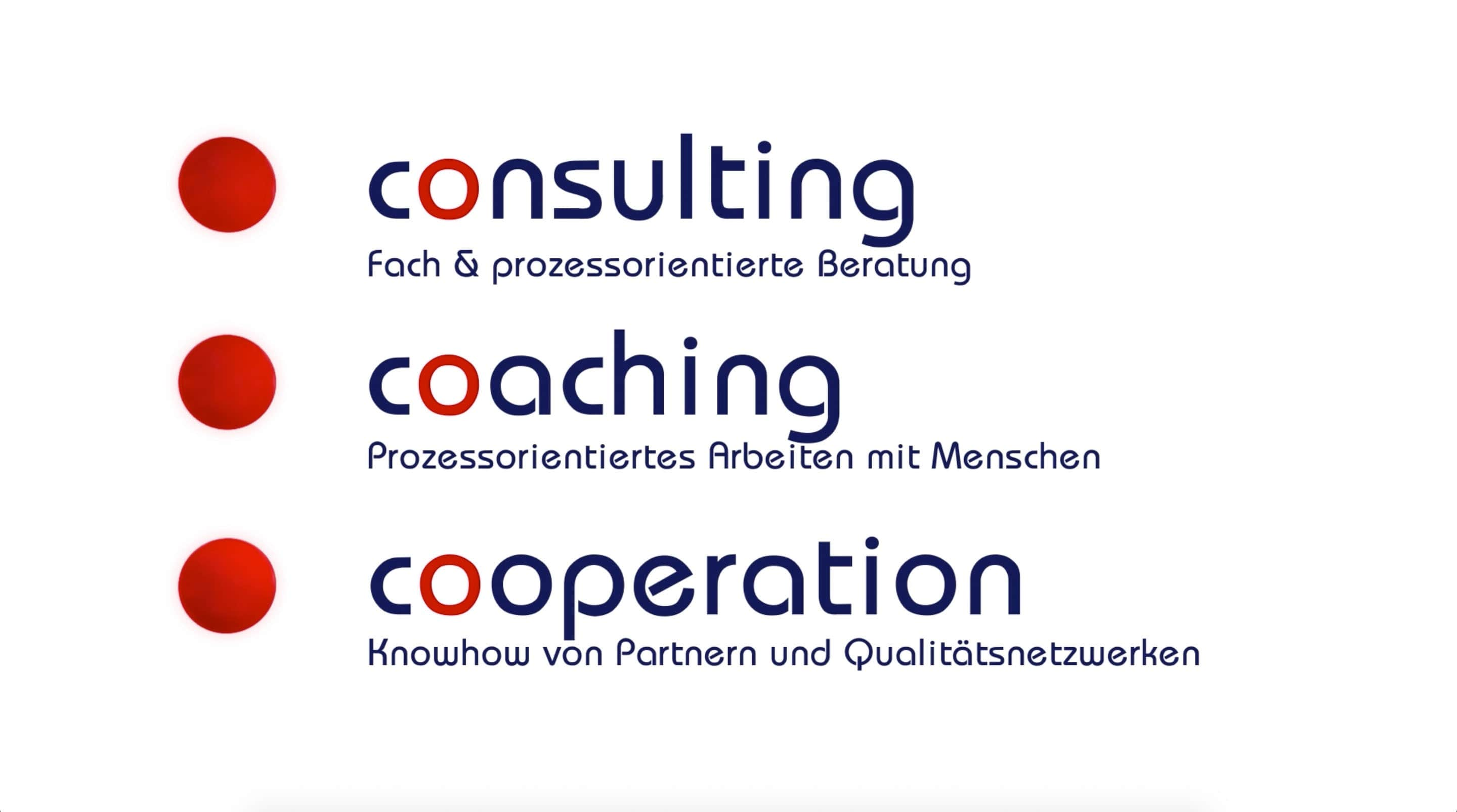Consulting, Coaching, Cooperation